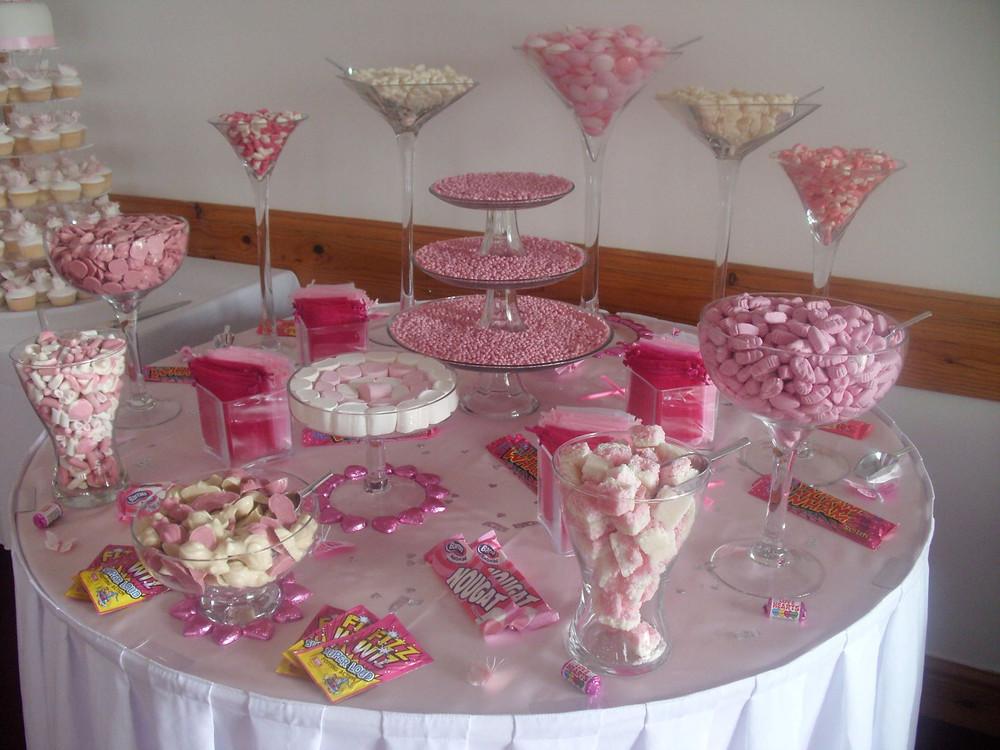 pink sweet table weddings
