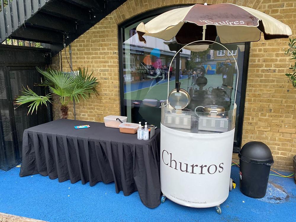 churros cart hire sw1 london