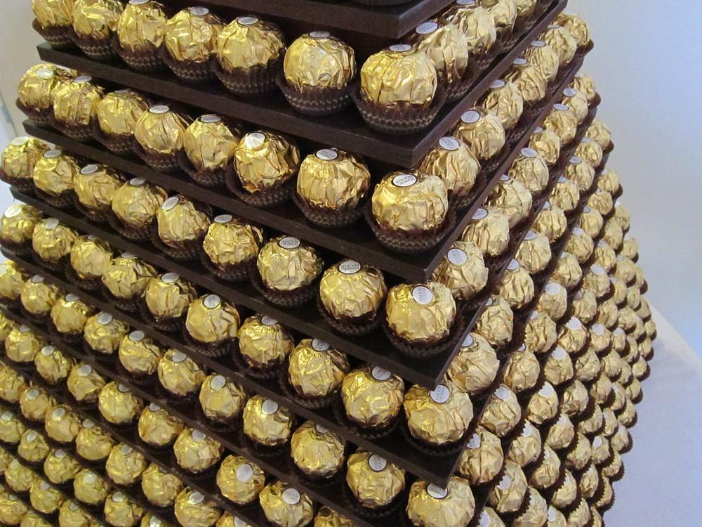 gold chocolate pyramid kent hire