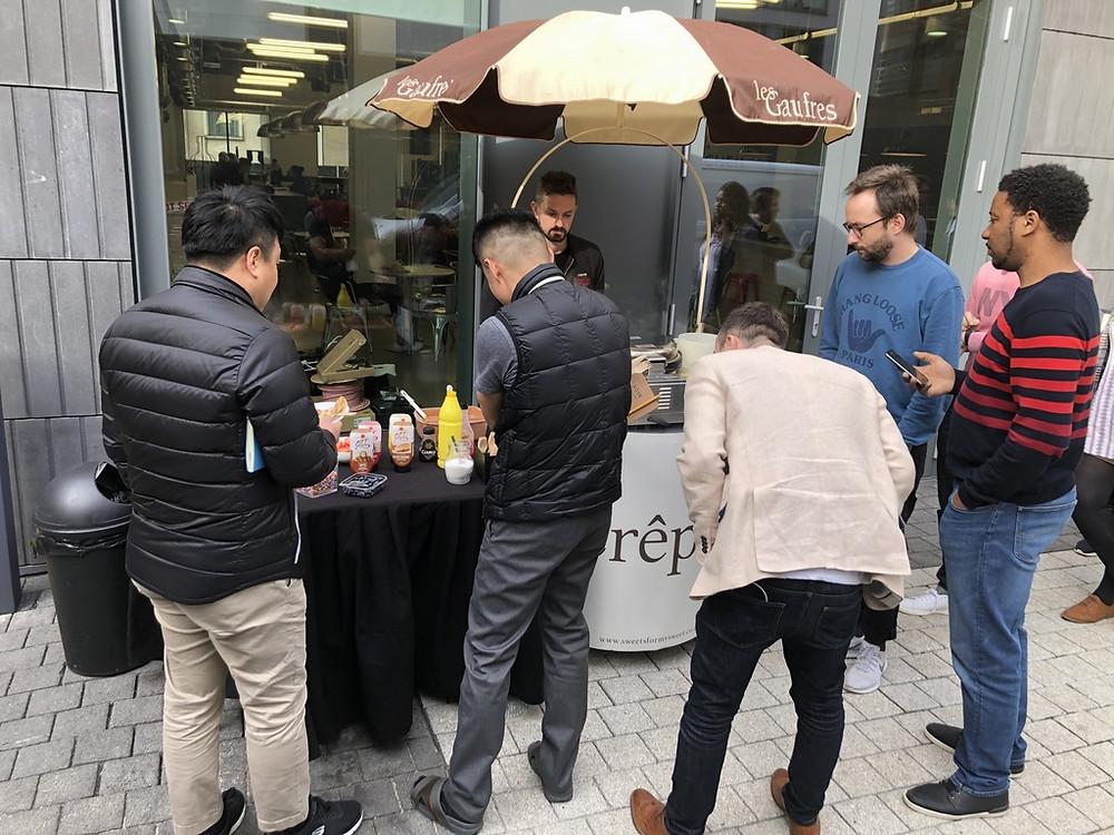 pancake queue london hire