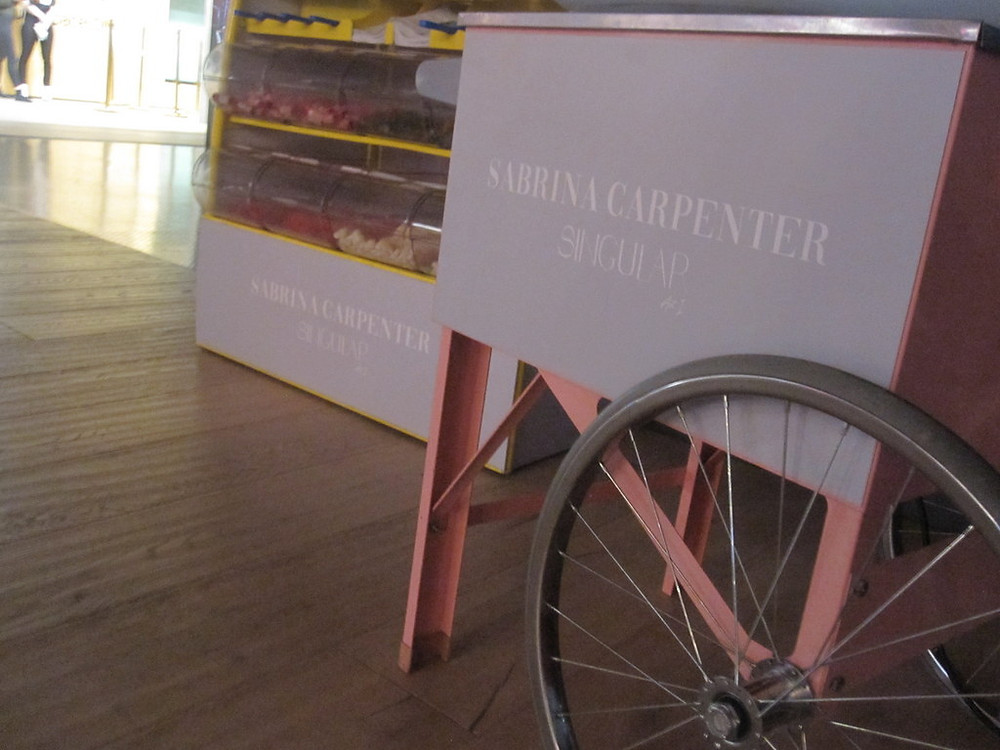 hire branded candy floss cart