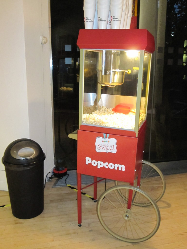 london popcorn cart hire