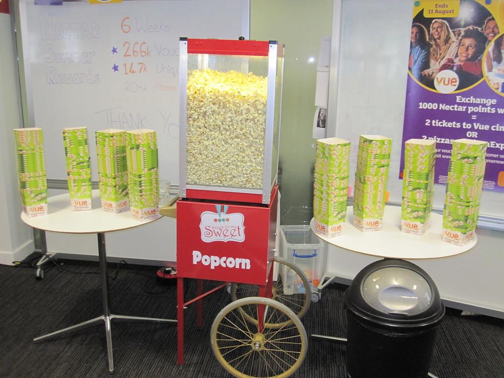 london hire popcorn