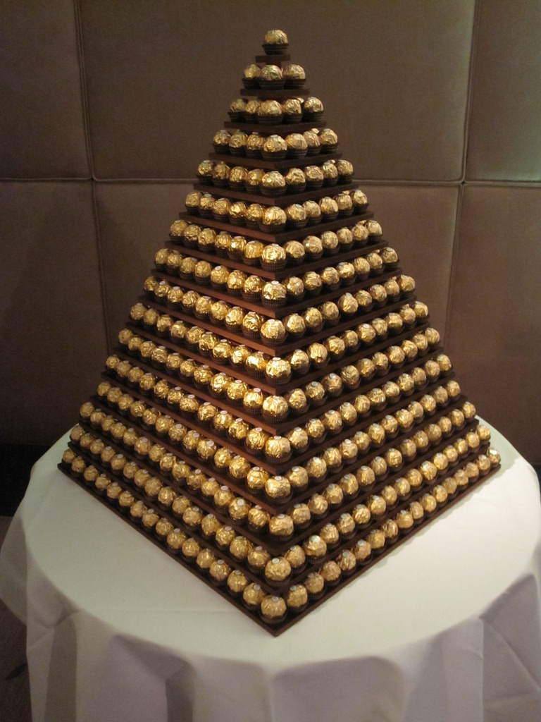 ferrero rocher pyramid london