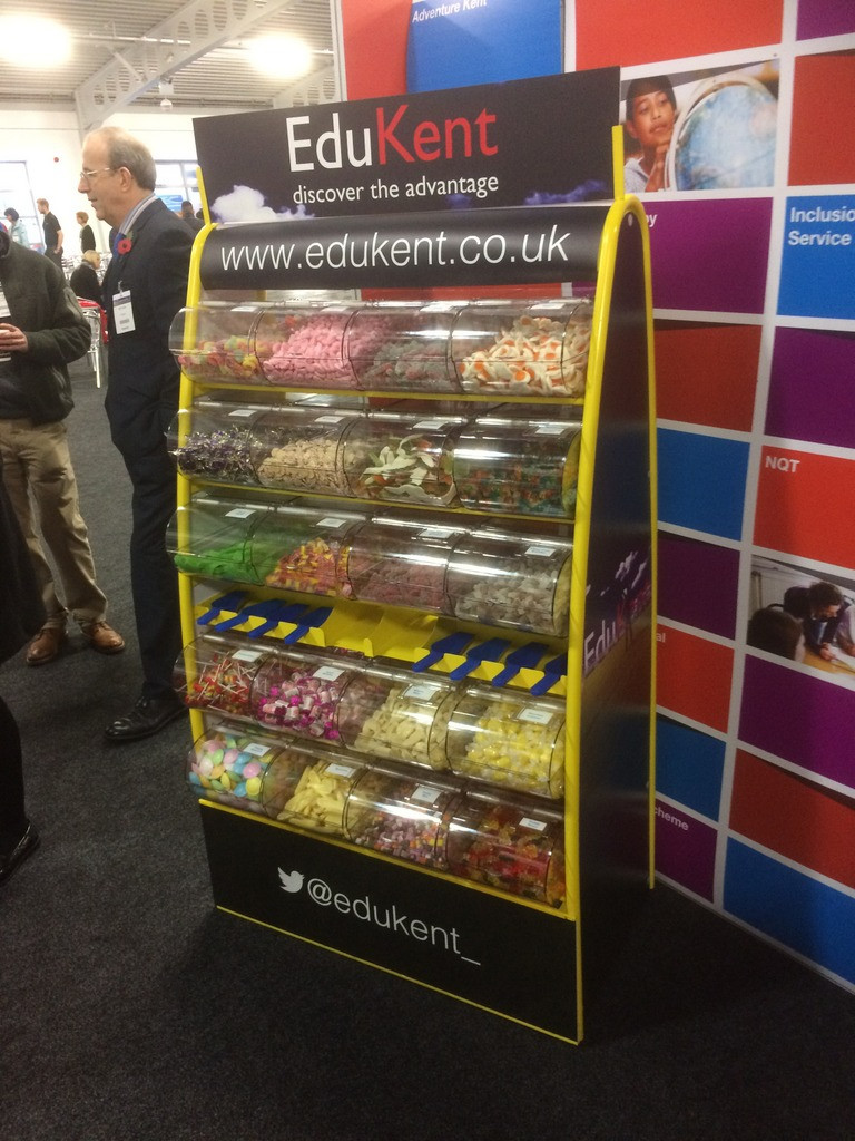 sweets stand hire branded kent