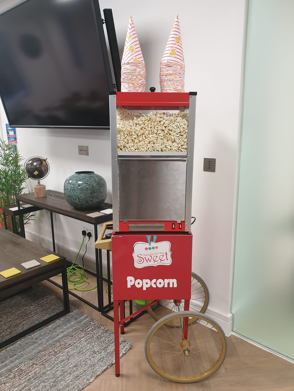 salted popcorn cart hire london