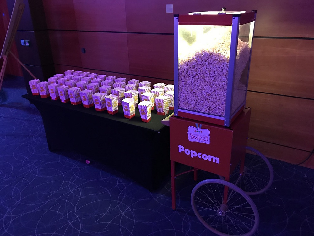 popcorn hire exhibition