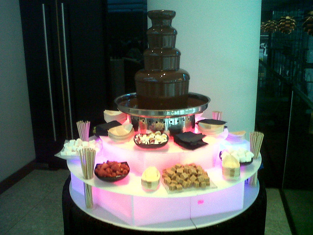basic chocolate fountain hire