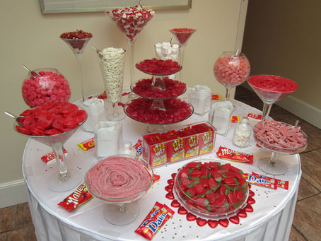 red sweet table
