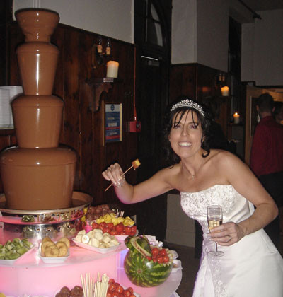 chocolate fountain hire bride
