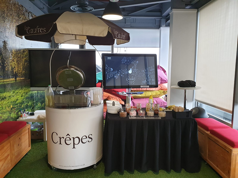 sweet crepe cart hire london
