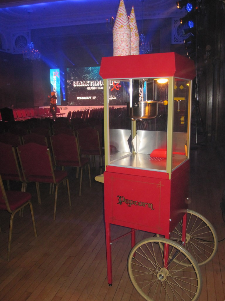 popcorn machine hire london