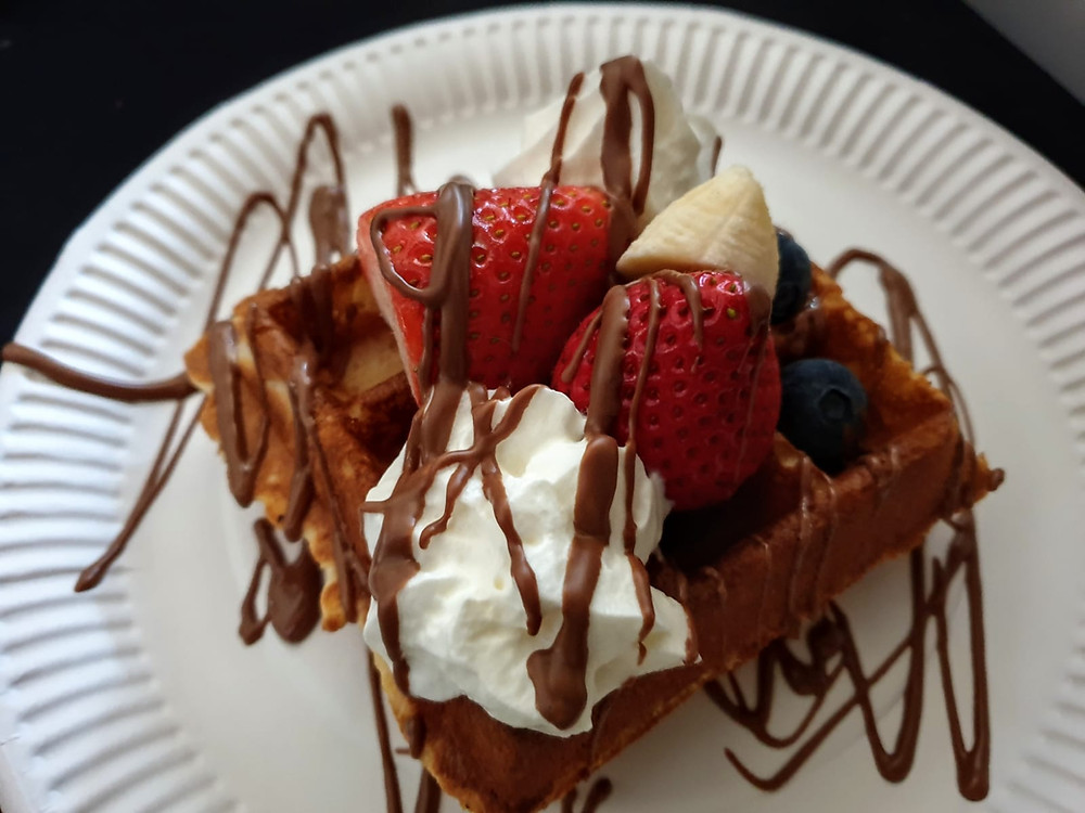 waffles served at event