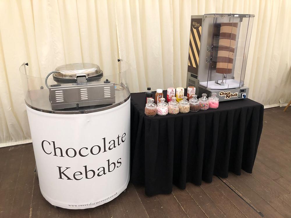 chocolate kebab cart hire
