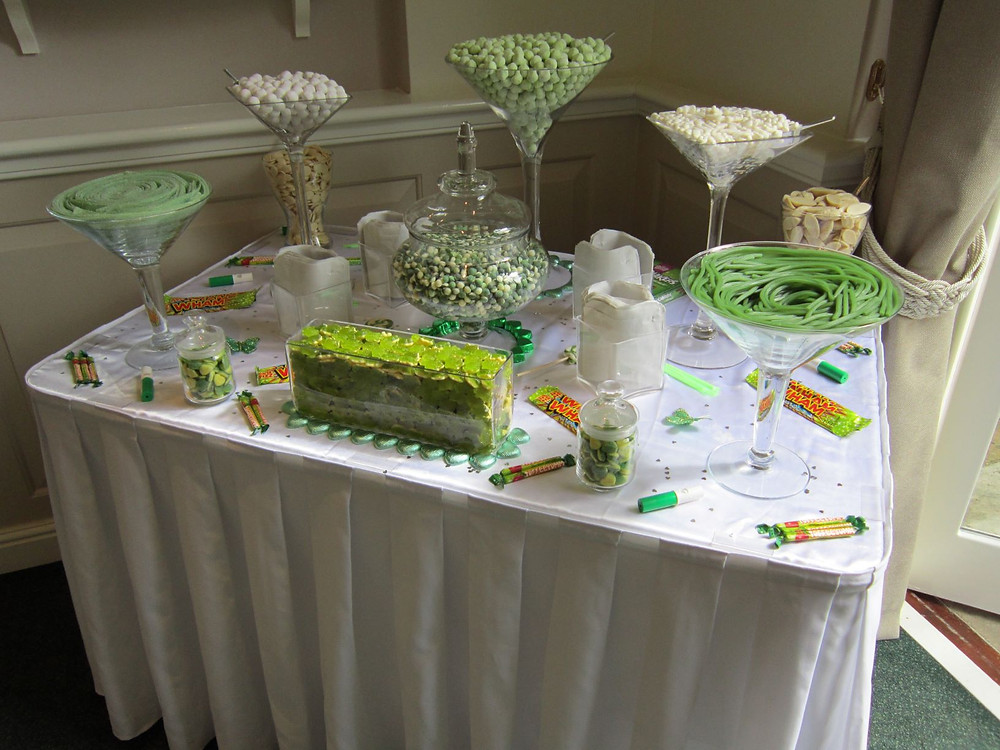 green sweets table