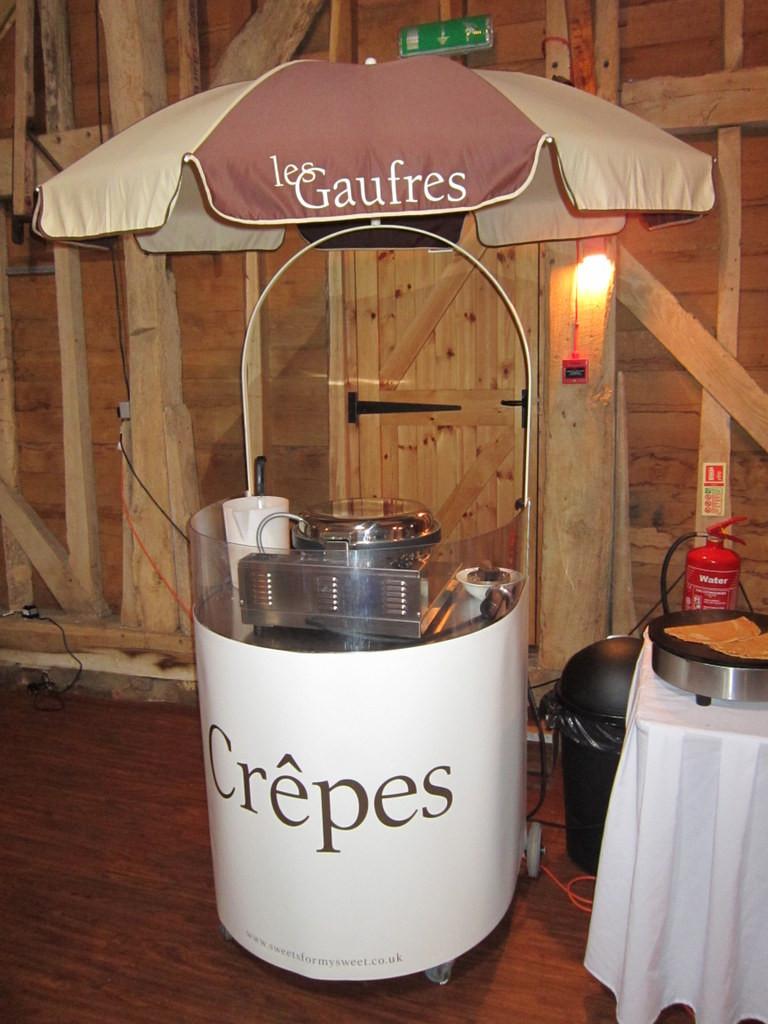 crepe machine cart hire kent