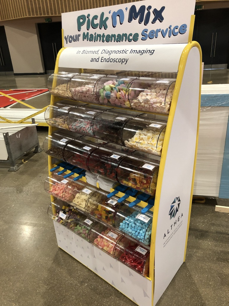 branded sweets stand arena mk