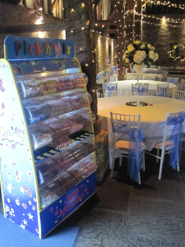 Pick n Mix sweet stand hire at Cooling Castle Barn