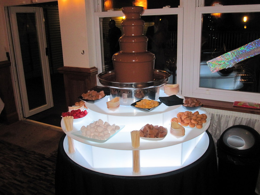 chocolate fountain wedding in kent