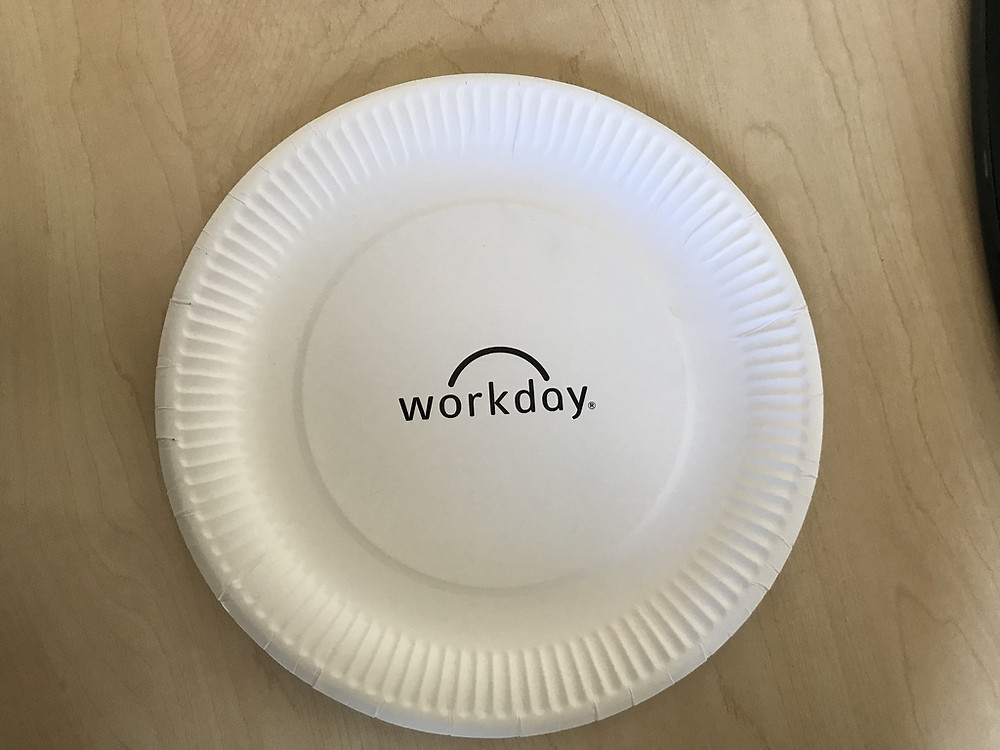 Branded paper plates