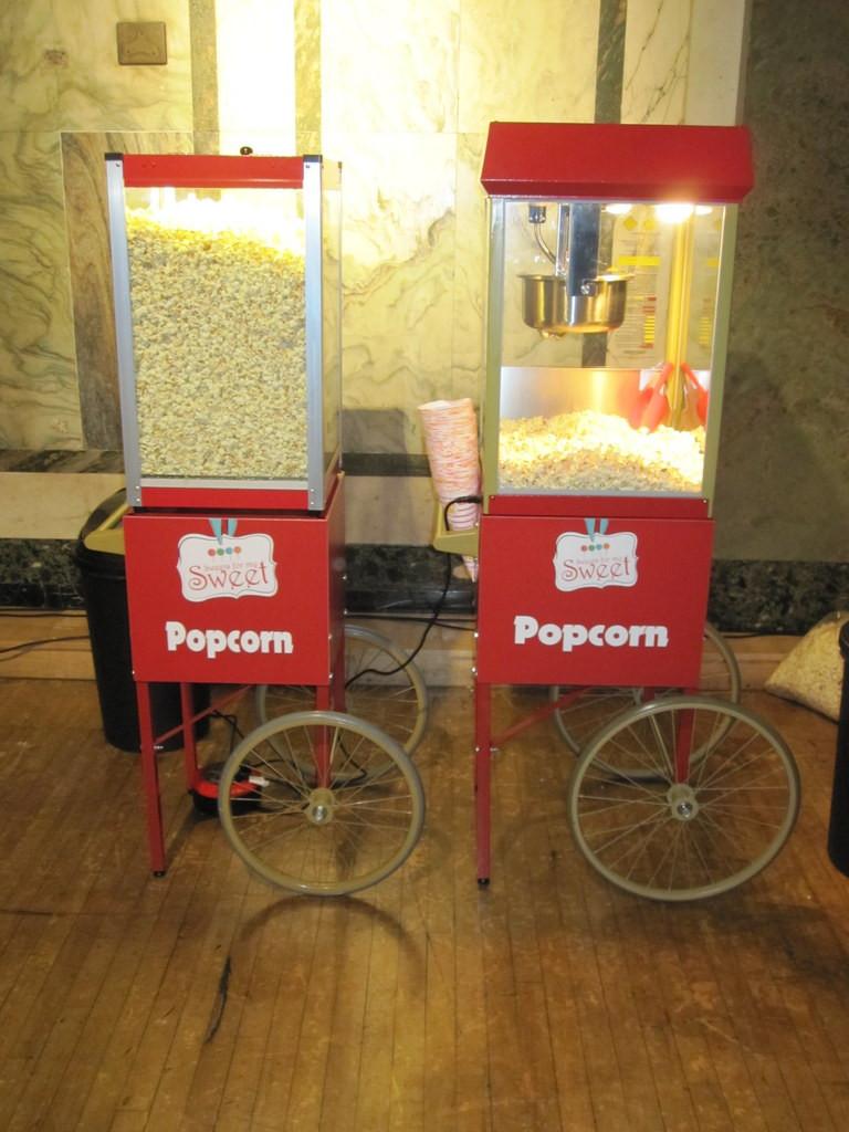 popcorn machines hire