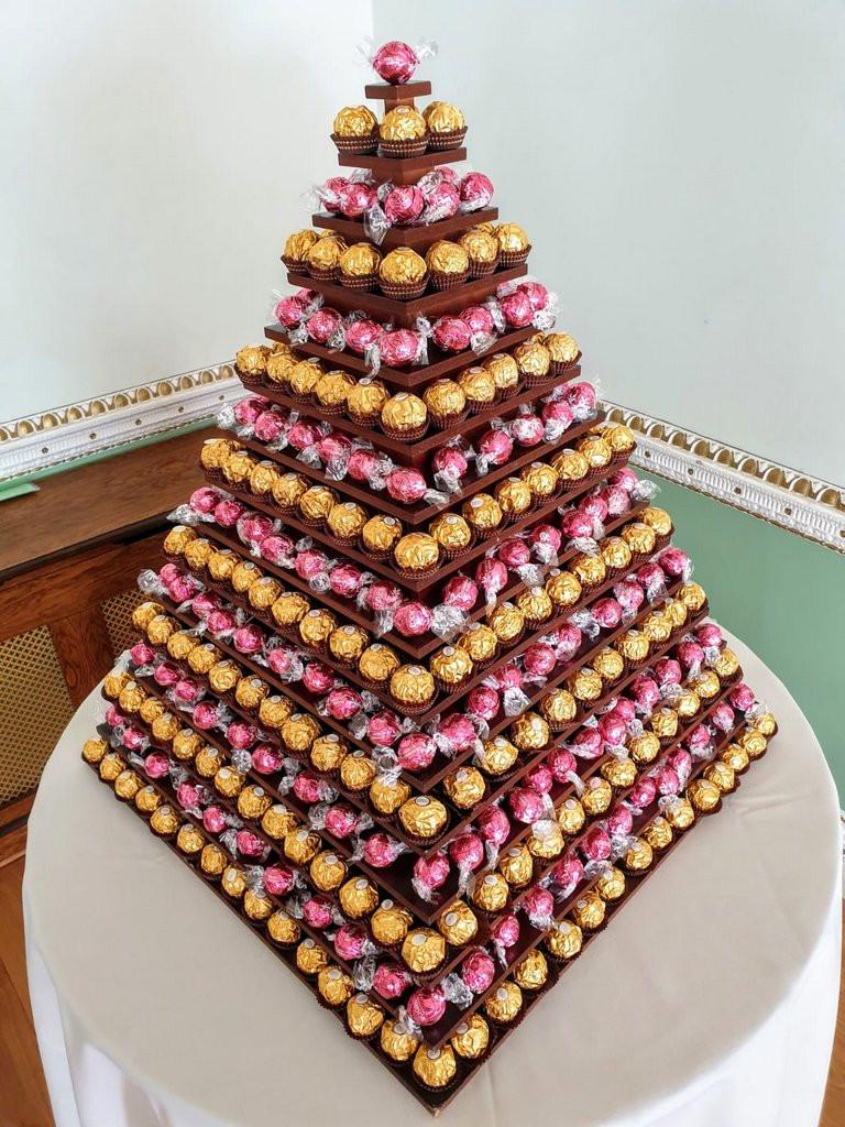 pink lindt lindor pyramid