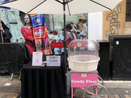 street market candy floss
