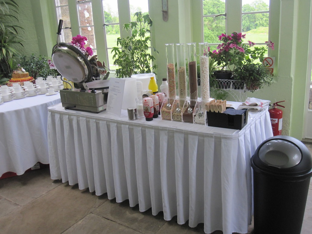 pancake wedding hire table