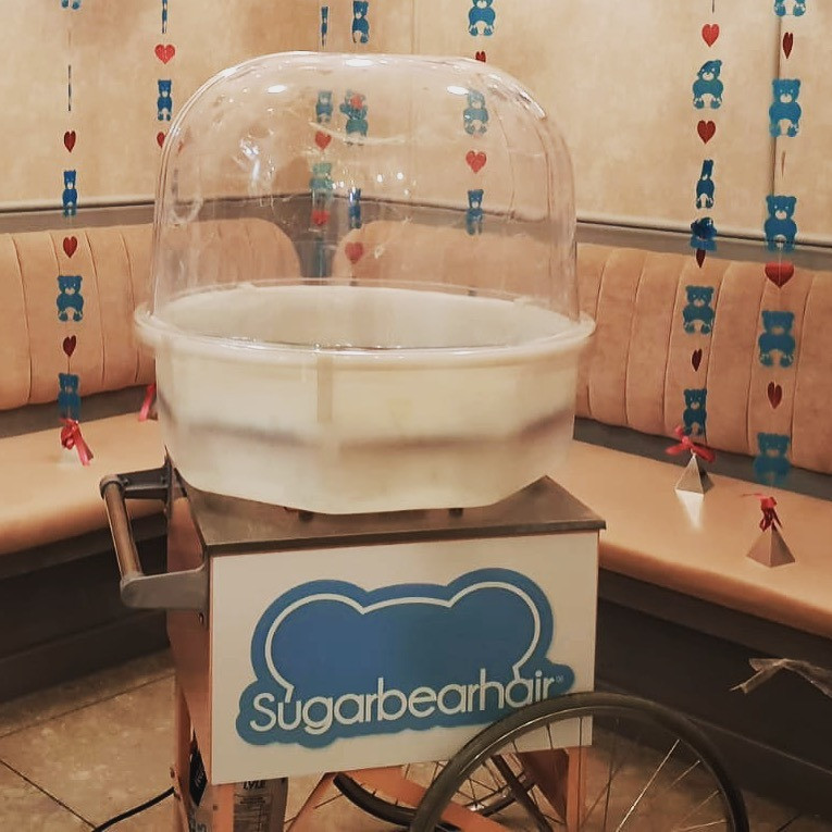 personalised candy floss cart