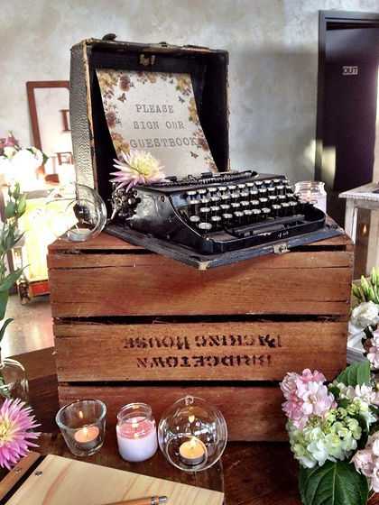 Old Typewriter on a crate