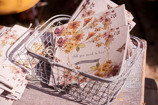 cards in a basket
