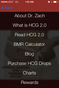 HCG diet mobile app from InsideOut Wellness