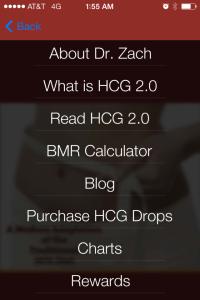 HCG diet mobile app from InsideOut Wellness