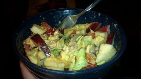 HCG Diet Recipe - P2 Chicken Salad with Apples and Sweet Mustard Dressing