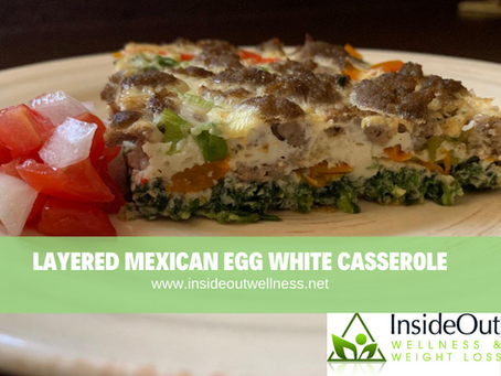 Layered Mexican Egg White Casserole – HCG diet plan