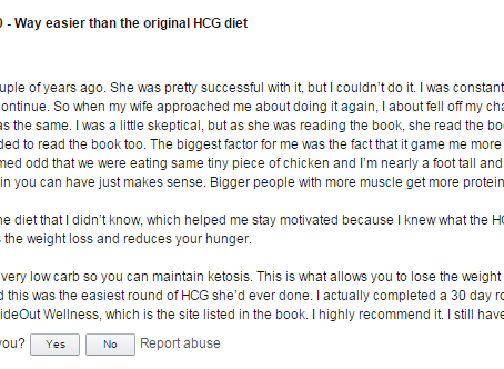 More HCG 2.0 Reviews from Amazon