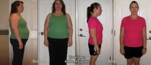 Sara's before and after using the HCG diet, weight loss with Dukan diet