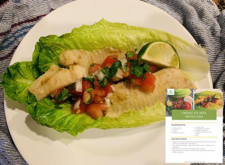HCG 2.0 Recipe – Fresh Tilapia Mexicano
