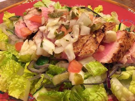HCG Diet Recipe – Blackened Ahi Fusion Salad