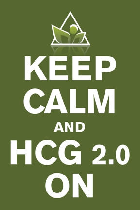 Keep calm and HCG diet