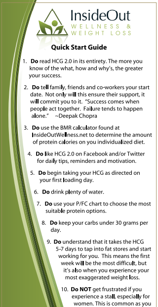 hcg diet quick start guide