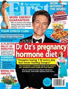 dr. oz diet, dr. oz hcg diet, dr. oz weight loss, first for women diet,