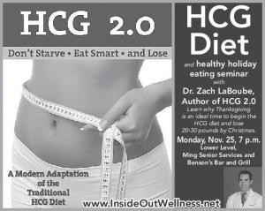hcg diet and healthy holiday eating seminar