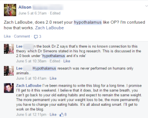 Does the hcg diet reset your hypothalamus