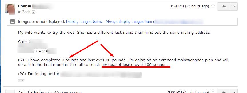 hcg diet success story vs weight watcher