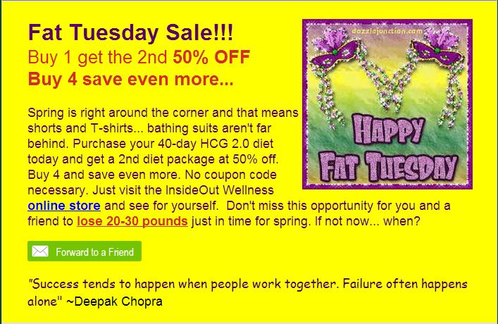 Coupon for savings on HCG Diet sale