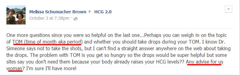 hcg during menstruation period