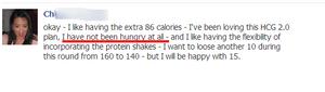 No hunger on hcg diet