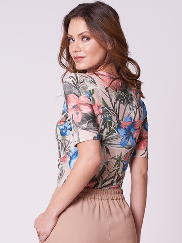 174ad5ba5e Blusa de Malha com Estampa Floral