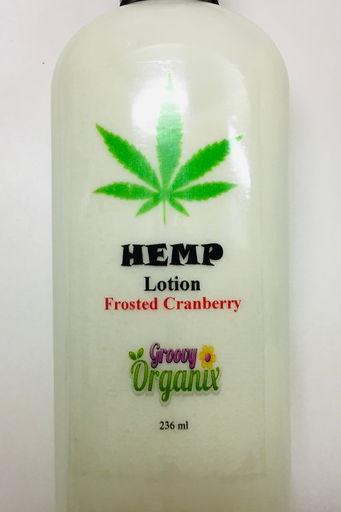 Hemp Lotion-8oz Frosted Cranberry
